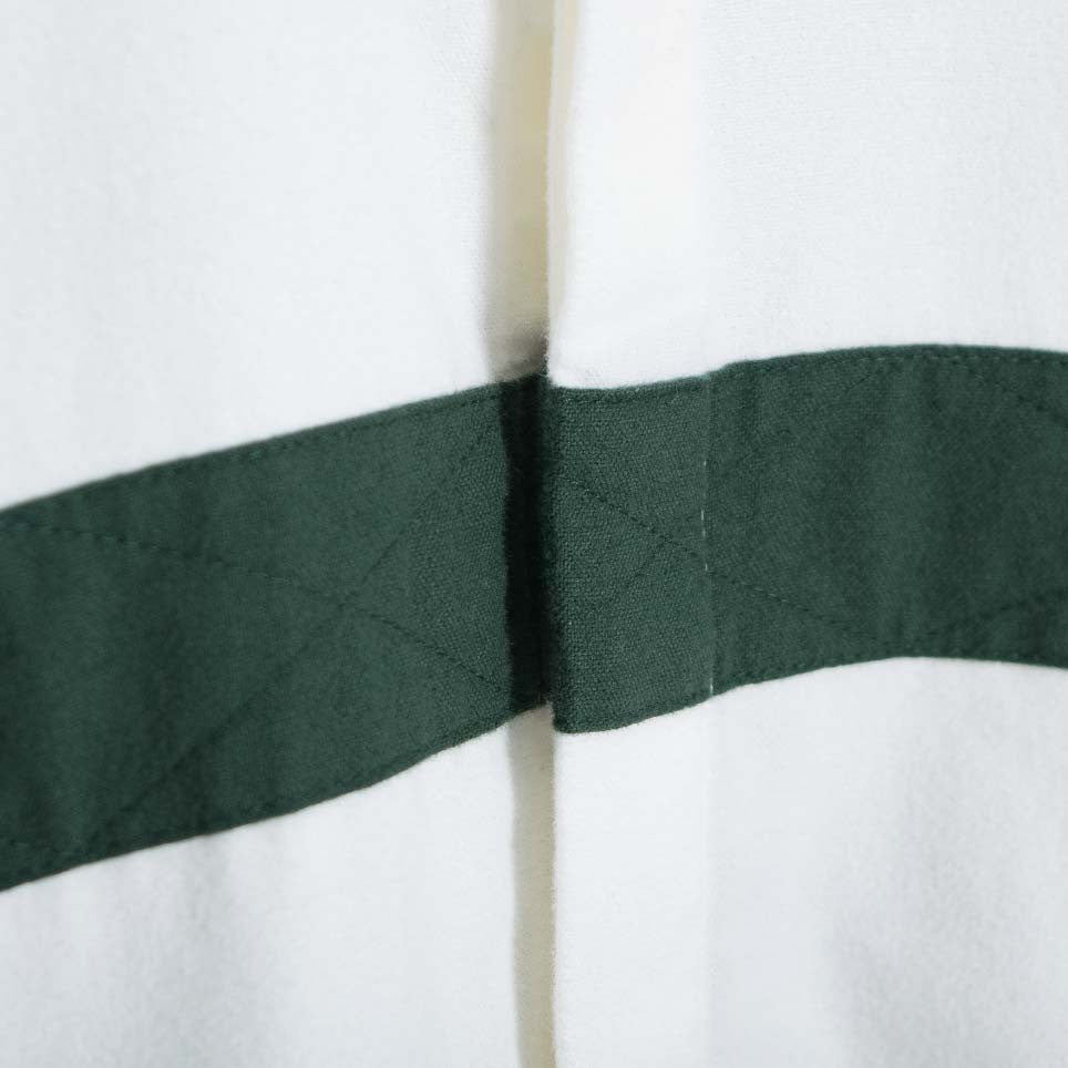 Soulland Asklund Stitched Tape Shirt - Off White/Green  - CARTOCON