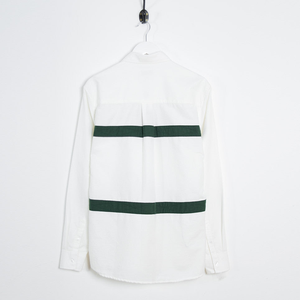 Soulland Asklund Stitched Tape Shirt - Off White/Green - 4