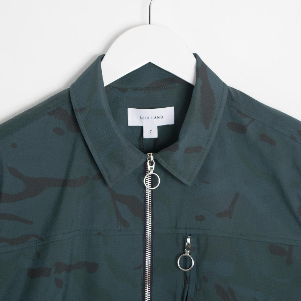 Soulland Thoresen Jacket - Green Camo
