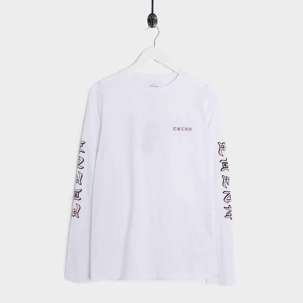 Soulland Chen Long Sleeve T-Shirt - White - 1