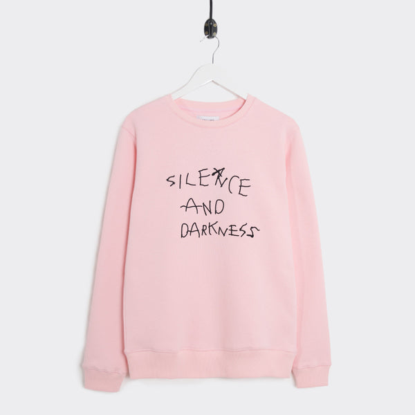 Soulland Silence Embroidered Sweatshirt - Pale Pink  - CARTOCON