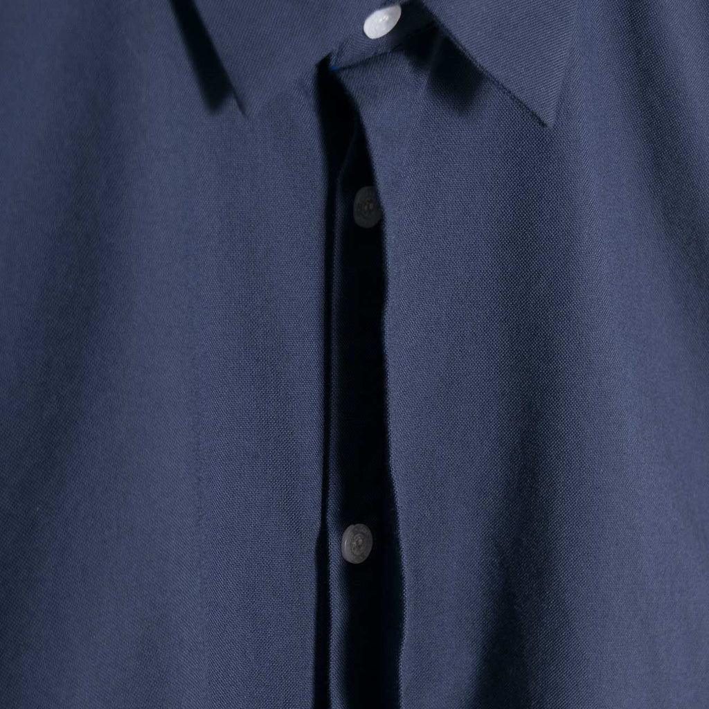 Soulland Farndon Grosgrain Tape Shirt - Navy