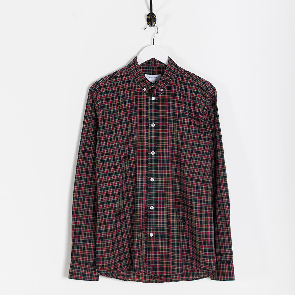 Soulland Goldsmith Oxford Shirt – Black/Red Check - 1