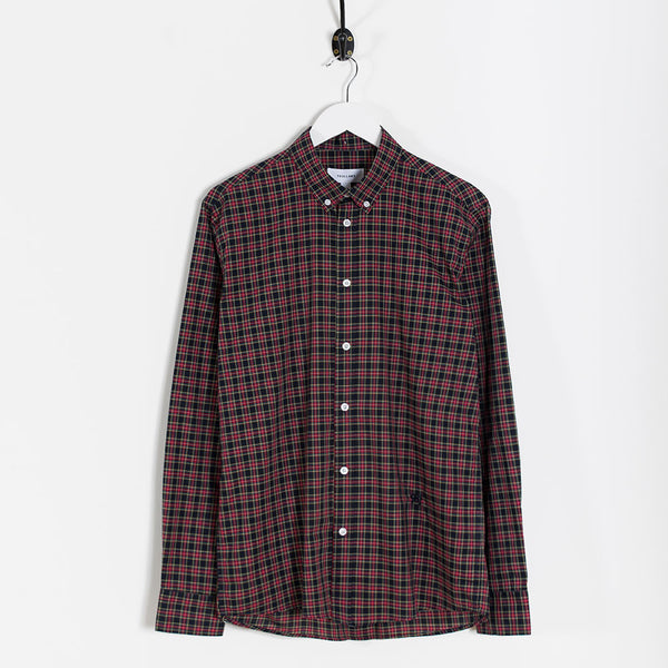 Soulland Goldsmith Oxford Shirt – Black/Red Check  - CARTOCON