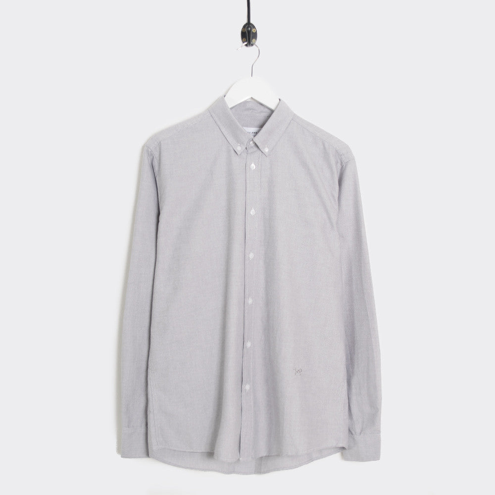Soulland Goldsmith Oxford Shirt - Grey - 1