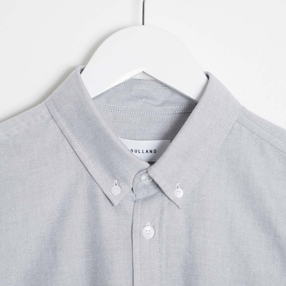 Soulland Goldsmith Oxford Shirt - Grey - 2