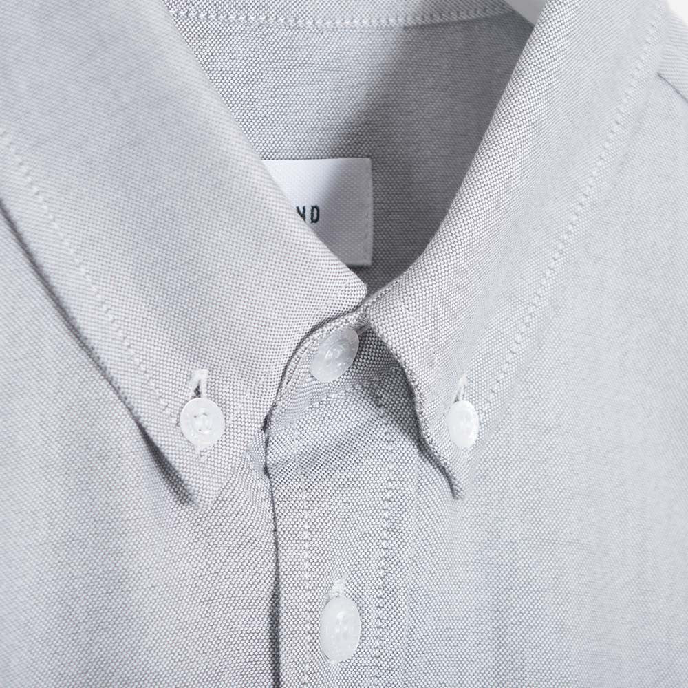 Soulland Goldsmith Oxford Shirt - Grey - 3