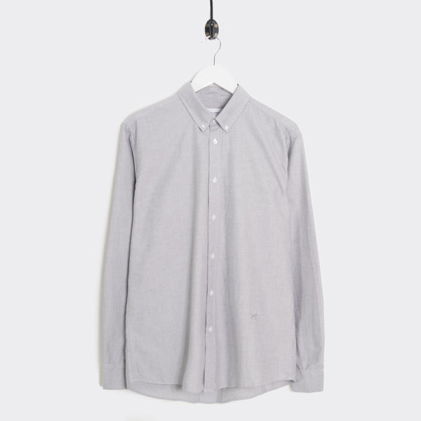 Soulland Goldsmith Oxford Shirt - Grey Shirt - CARTOCON