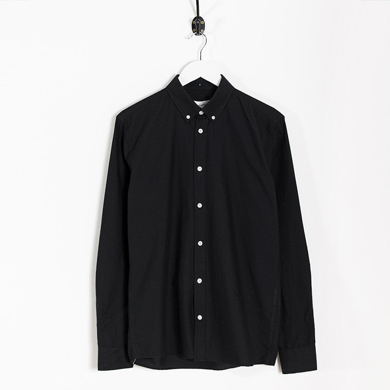 Soulland Goldsmith Oxford Shirt – Black - 1
