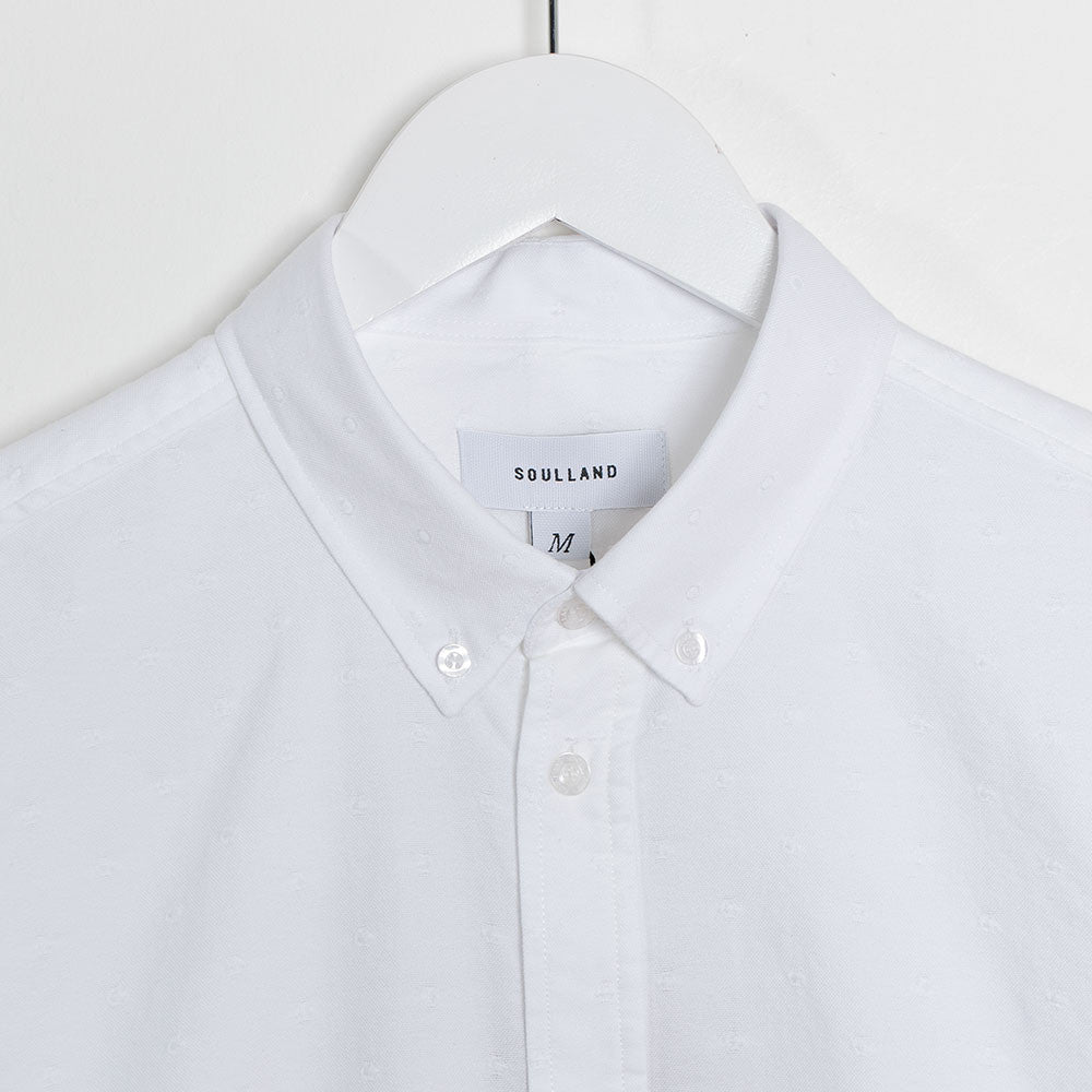 Soulland Goldsmith Shirt - White Dots  - CARTOCON