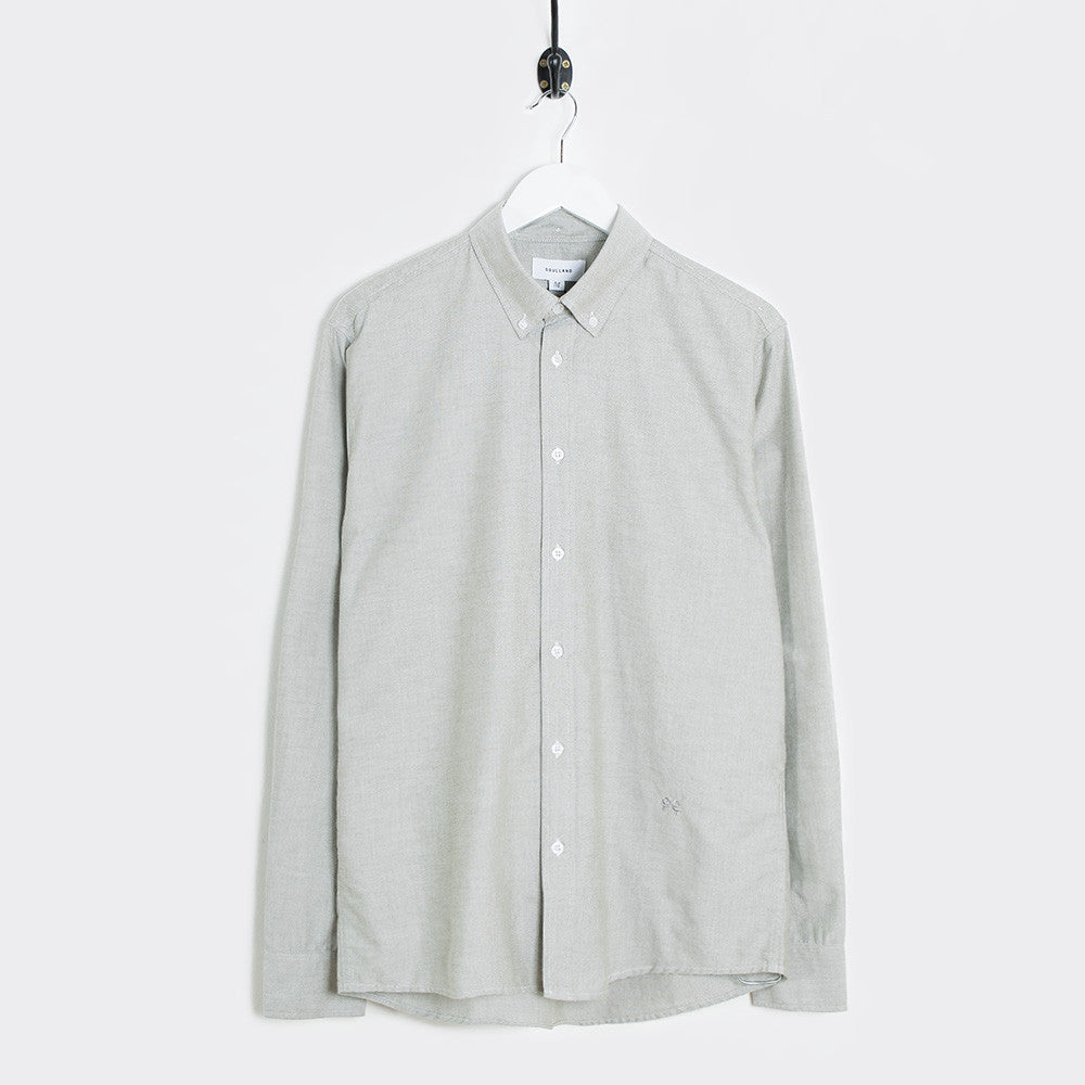 Soulland Goldsmith Button Down Shirt - Green - 1