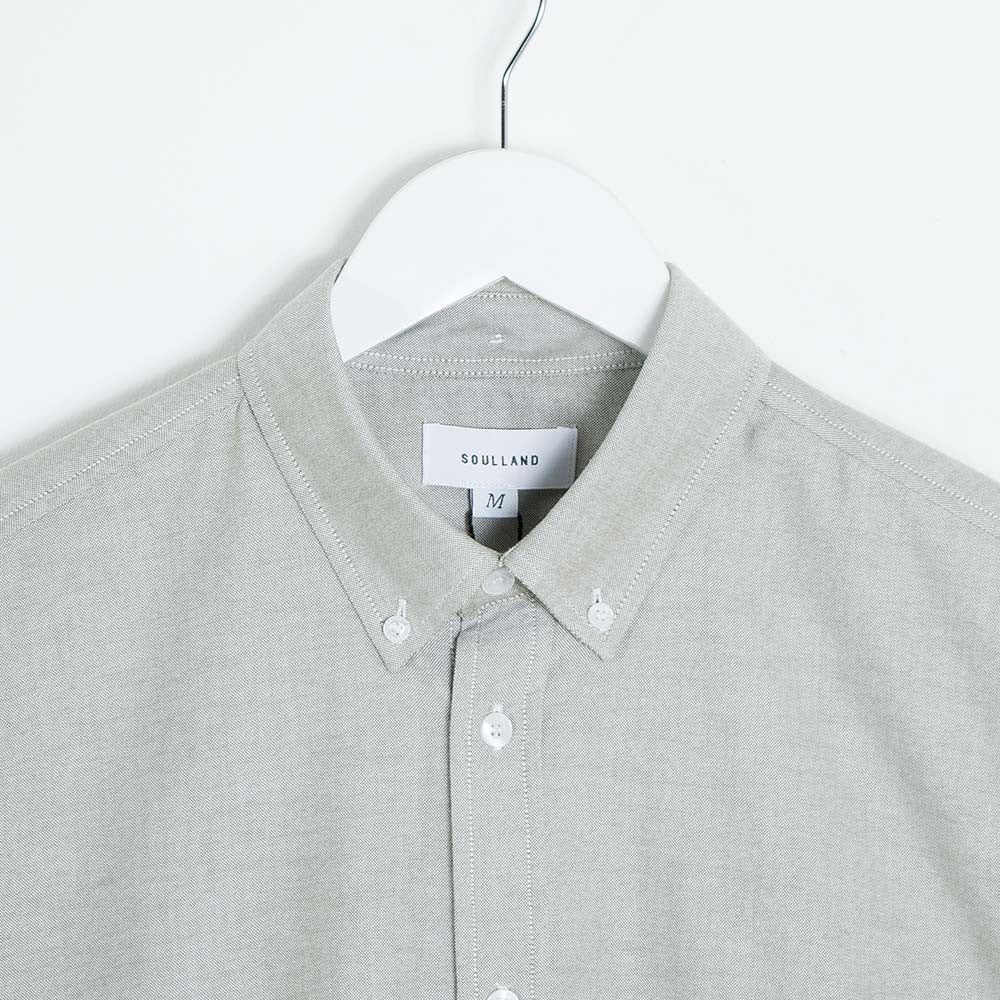 Soulland Goldsmith Button Down Shirt - Green - 3