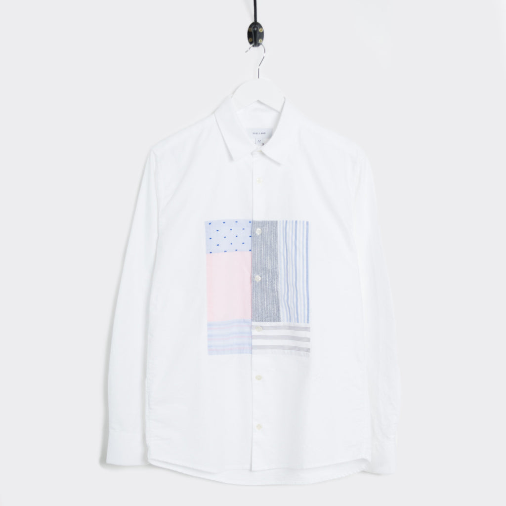 Soulland Harrison Oxford Shirt w. Patchwork - White