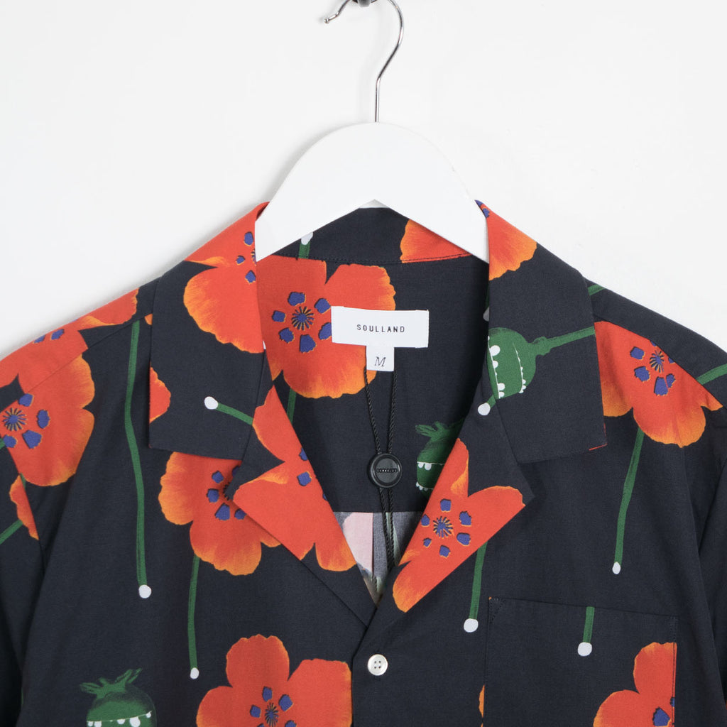 Soulland Juice All Over Printed Short Sleeve Shirt - Black