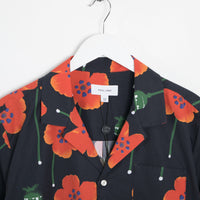 Soulland Juice All Over Printed Short Sleeve Shirt - Black Shirt - CARTOCON