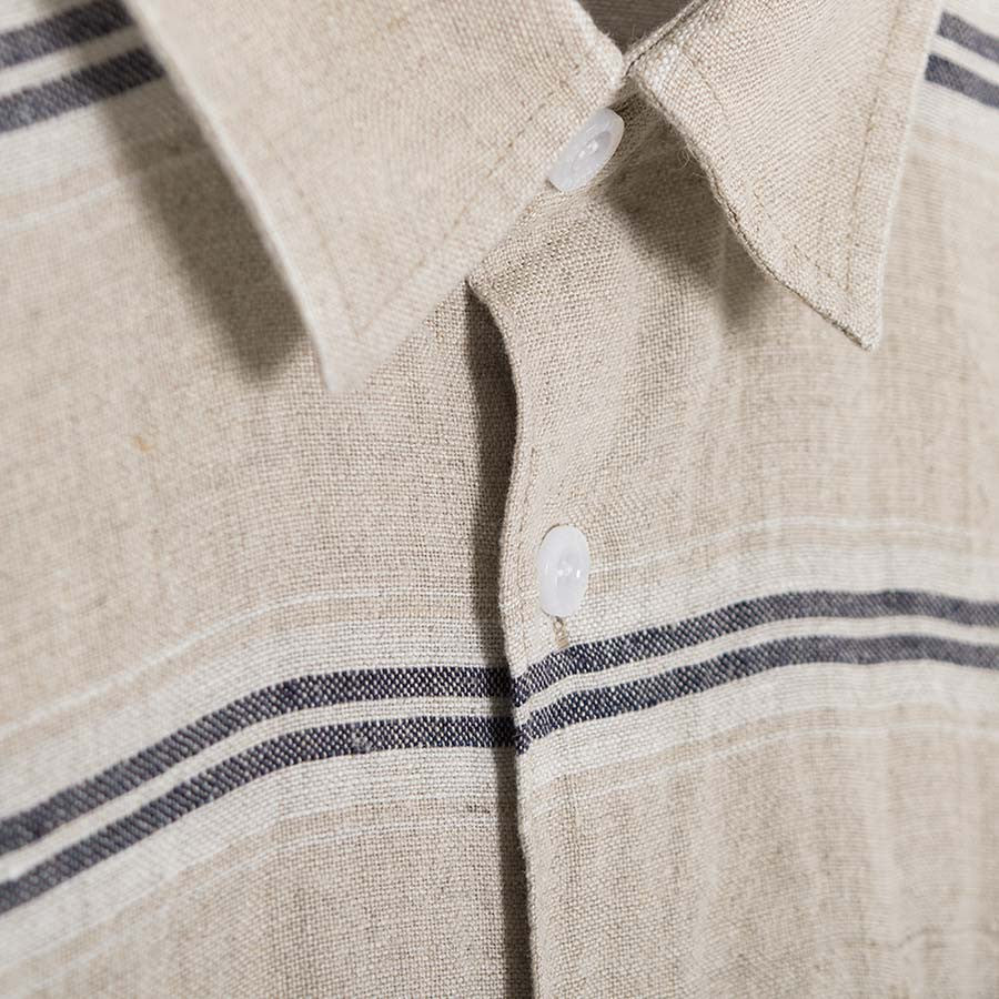 Soulland Logan Shirt - Beige/Navy - 3