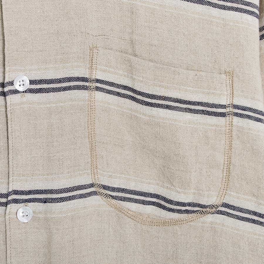Soulland Logan Shirt - Beige/Navy  - CARTOCON