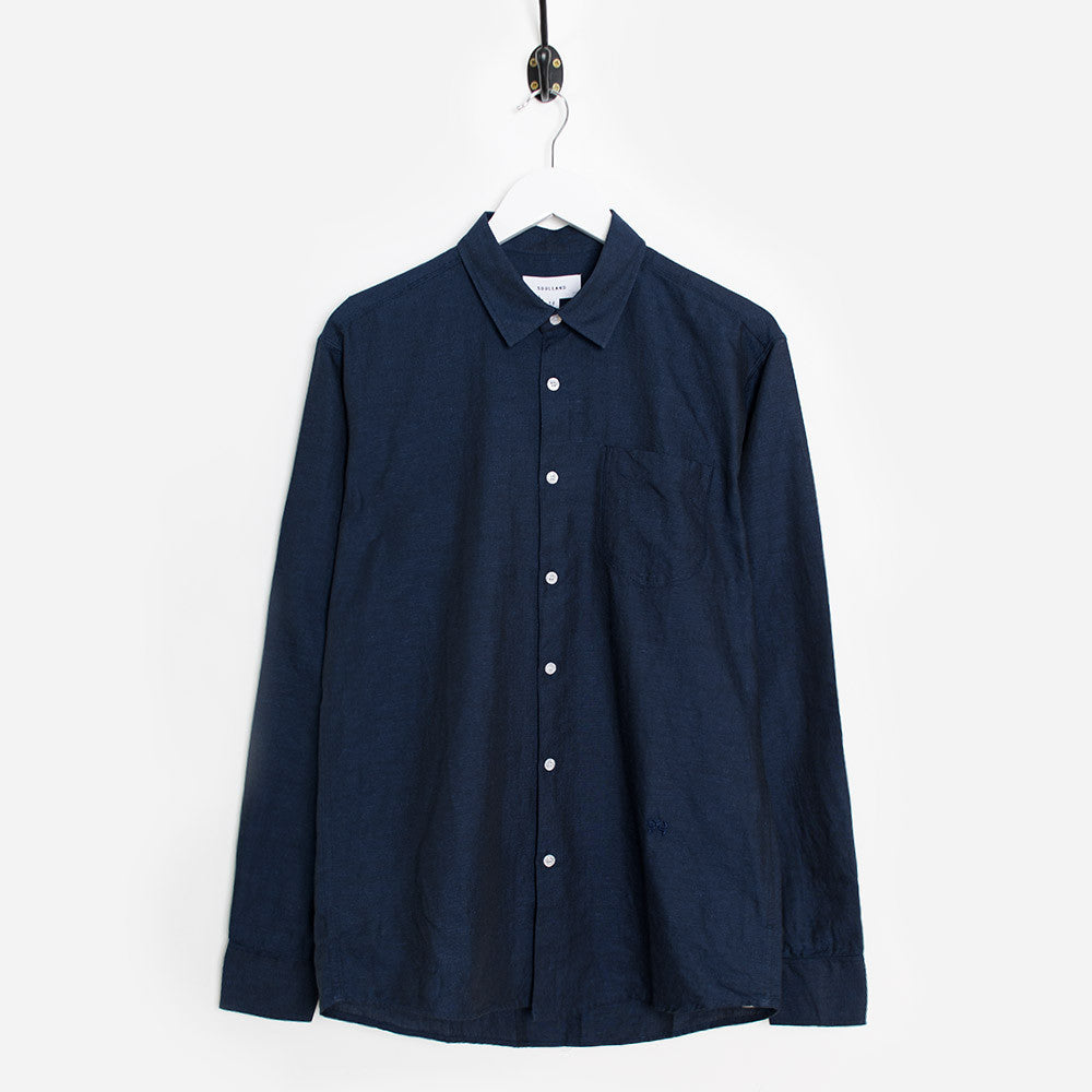Soulland Logan Shirt - Navy  - CARTOCON