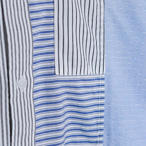 Soulland Stitch Shirt - Blue/White  - CARTOCON