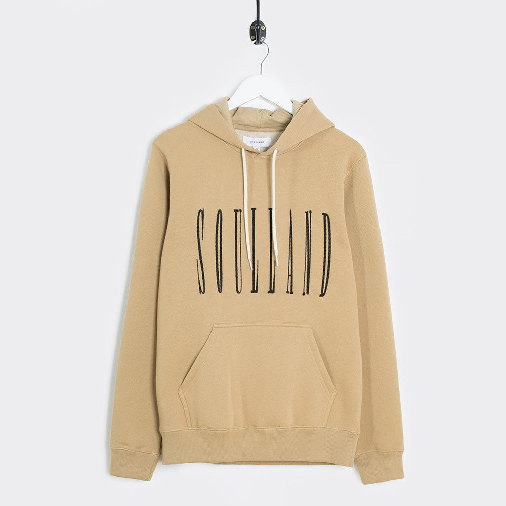 Soulland Samoth Embroidered Hoodie - Beige - 1
