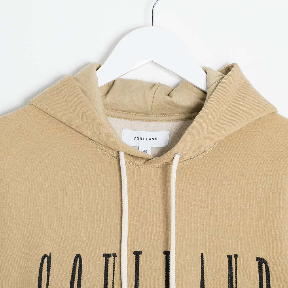 Soulland Samoth Embroidered Hoodie - Beige - 2