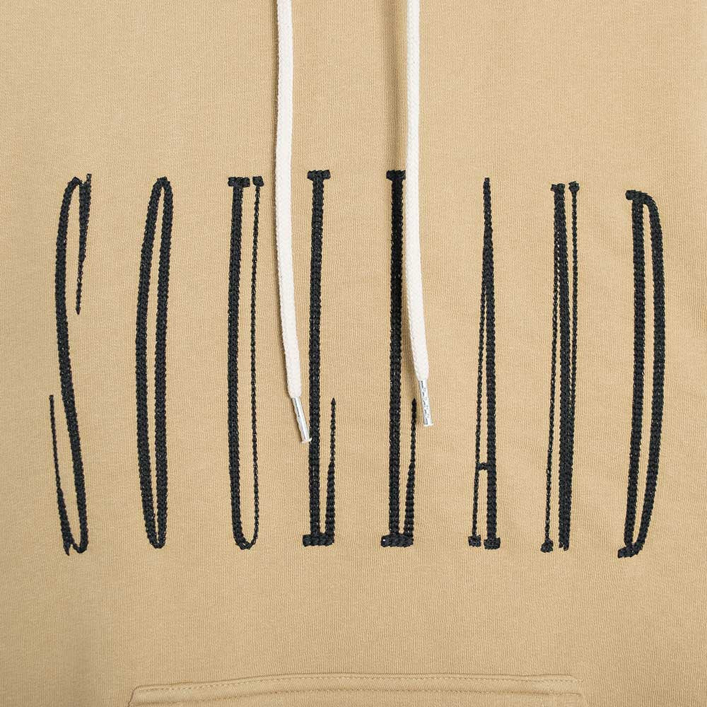 Soulland Samoth Embroidered Hoodie - Beige - 3