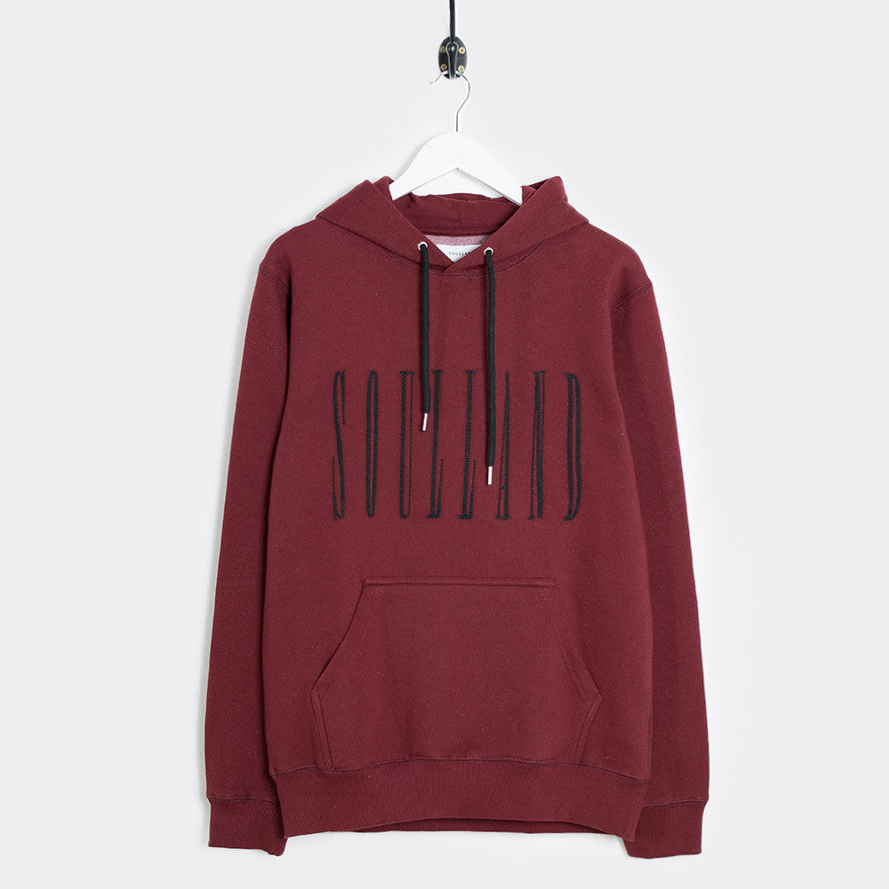 Soulland Samoth Embroidered Hoodie - Bordeaux - 1