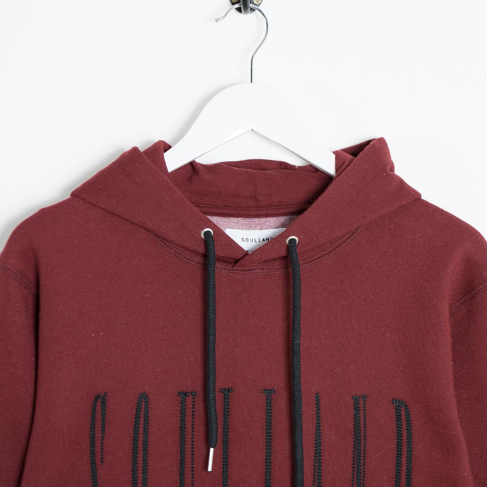 Soulland Samoth Embroidered Hoodie - Bordeaux - 2