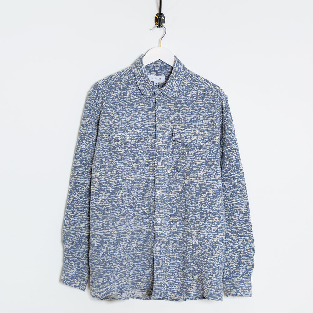 Soulland Tom Shirt - White/Light Blue - 1