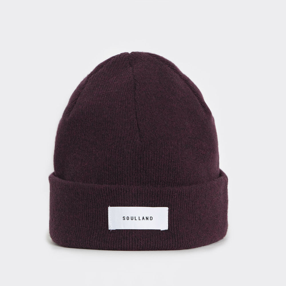 Soulland Villy Beanie – Bordeaux - 1