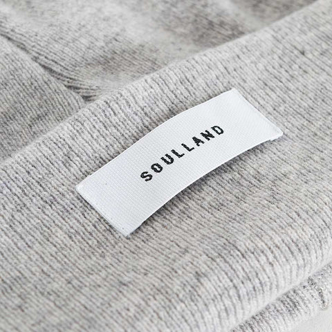 Soulland Villy Beanie – Light Grey  - CARTOCON