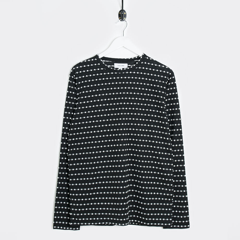 Soulland Wolfgang Long Sleeve T-Shirt - Black/White Dots - 1