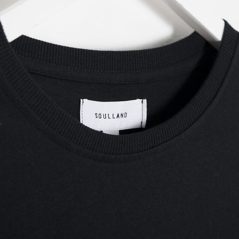 Soulland Terry T-Shirt - Black  - CARTOCON