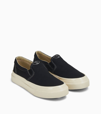 Stepney Workers Club Lister Slip-On Canvas - Black/White Footwear - CARTOCON