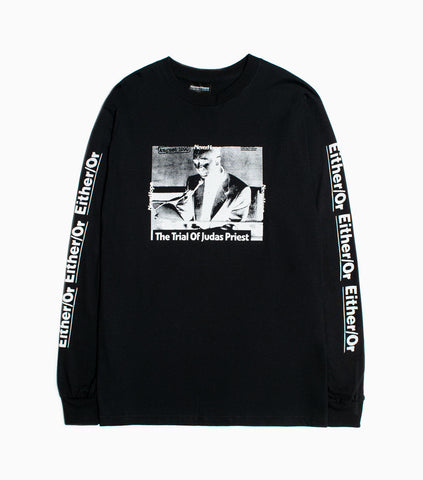 NeverHope Trials Long Sleeve - Black Long Sleeve T-Shirt - CARTOCON