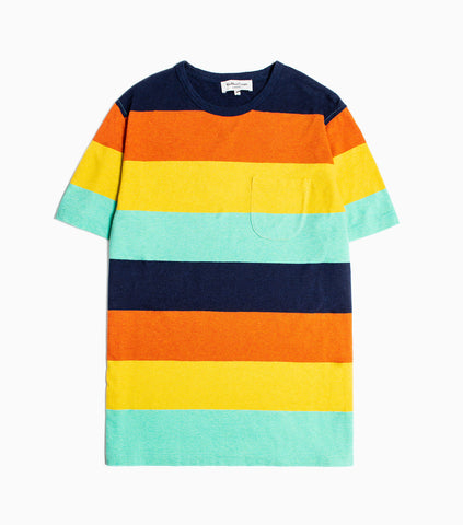 YMC Wild Ones Melange Stripe T-Shirt - Multi T-Shirt - CARTOCON