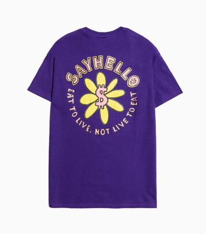 Sayhello Soul T-Shirt - Purple T-Shirt - CARTOCON