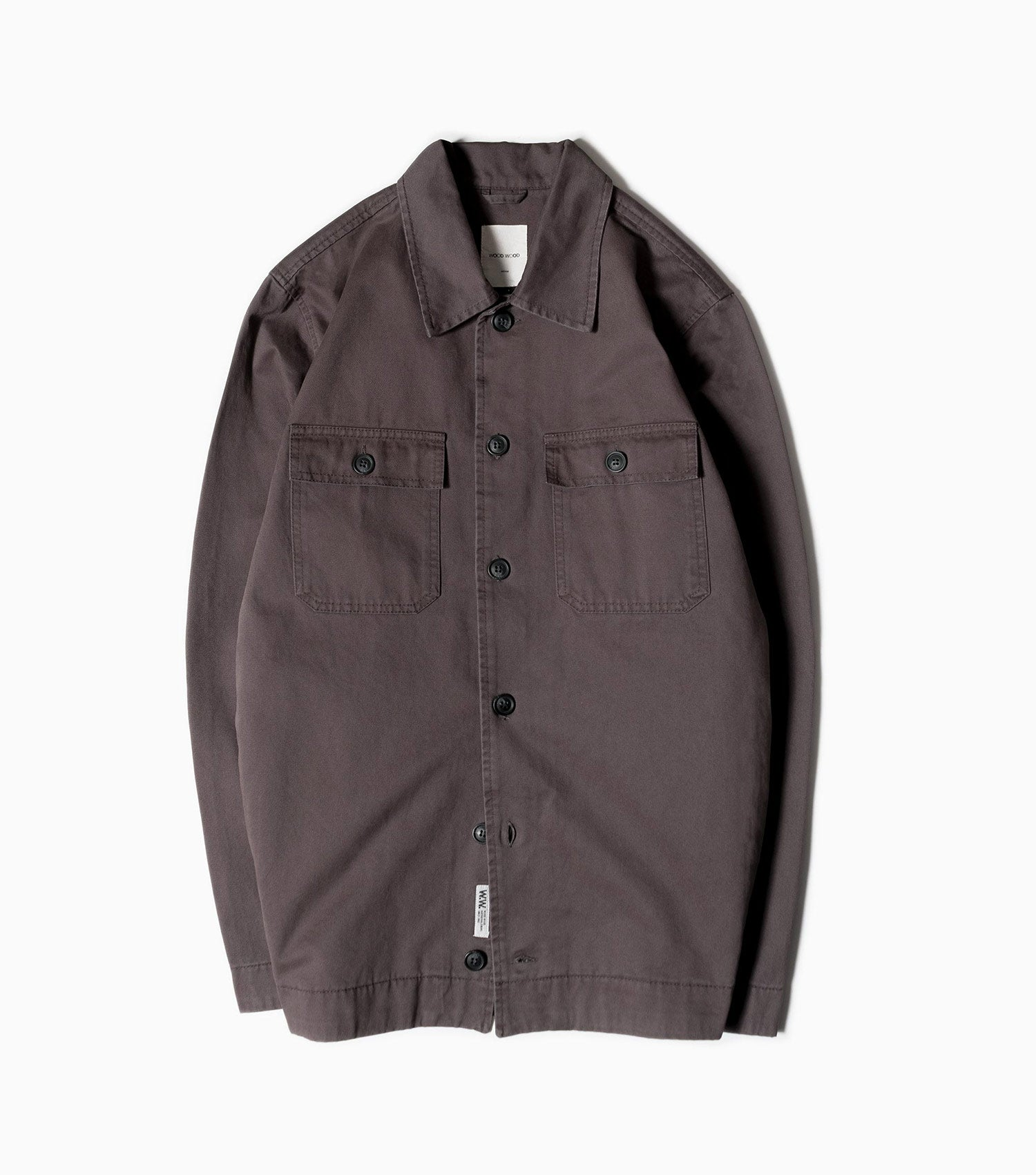 Wood Wood Fabian Overshirt - Dark Grey