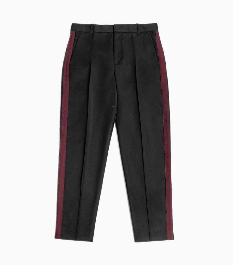 Wood Wood Surrey Wool Taped Trousers - Black
