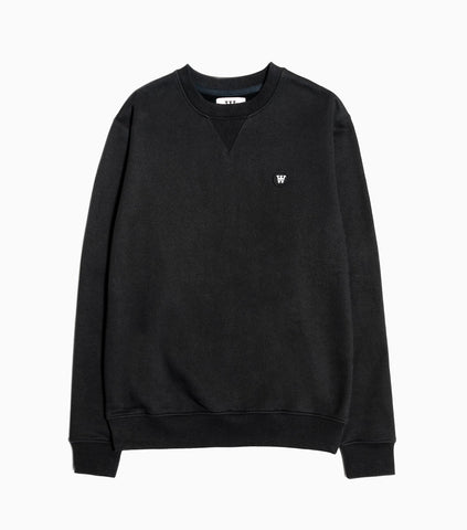 Wood Wood Double A Tye Sweatshirt - Black Sweatshirt - CARTOCON