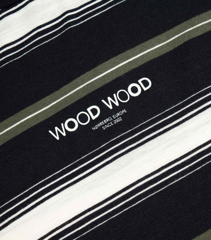 Wood Wood Perry Striped T-shirt - Navy Stripe T-Shirt - CARTOCON