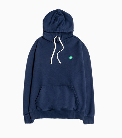 Wood Wood Double A Ian Hoody - Navy Hoody - CARTOCON