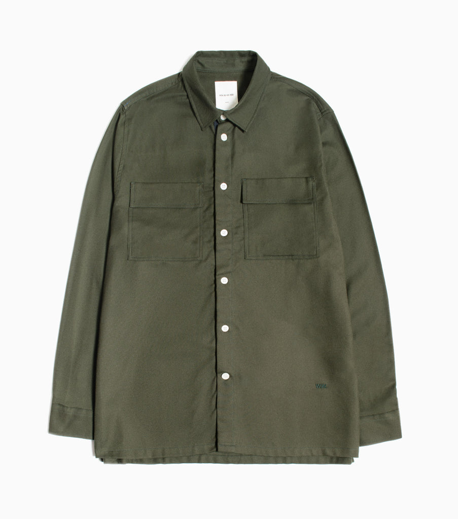 Wood Wood Andrew Shirt - Dark Green