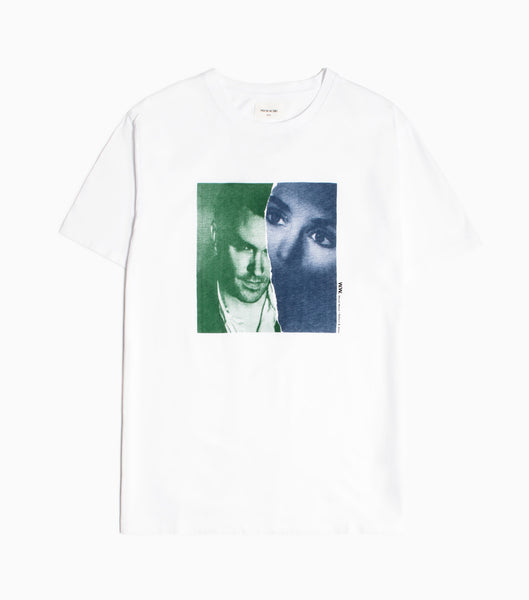 Wood Wood Moz/Sin T-shirt - Bright White T-Shirt - CARTOCON