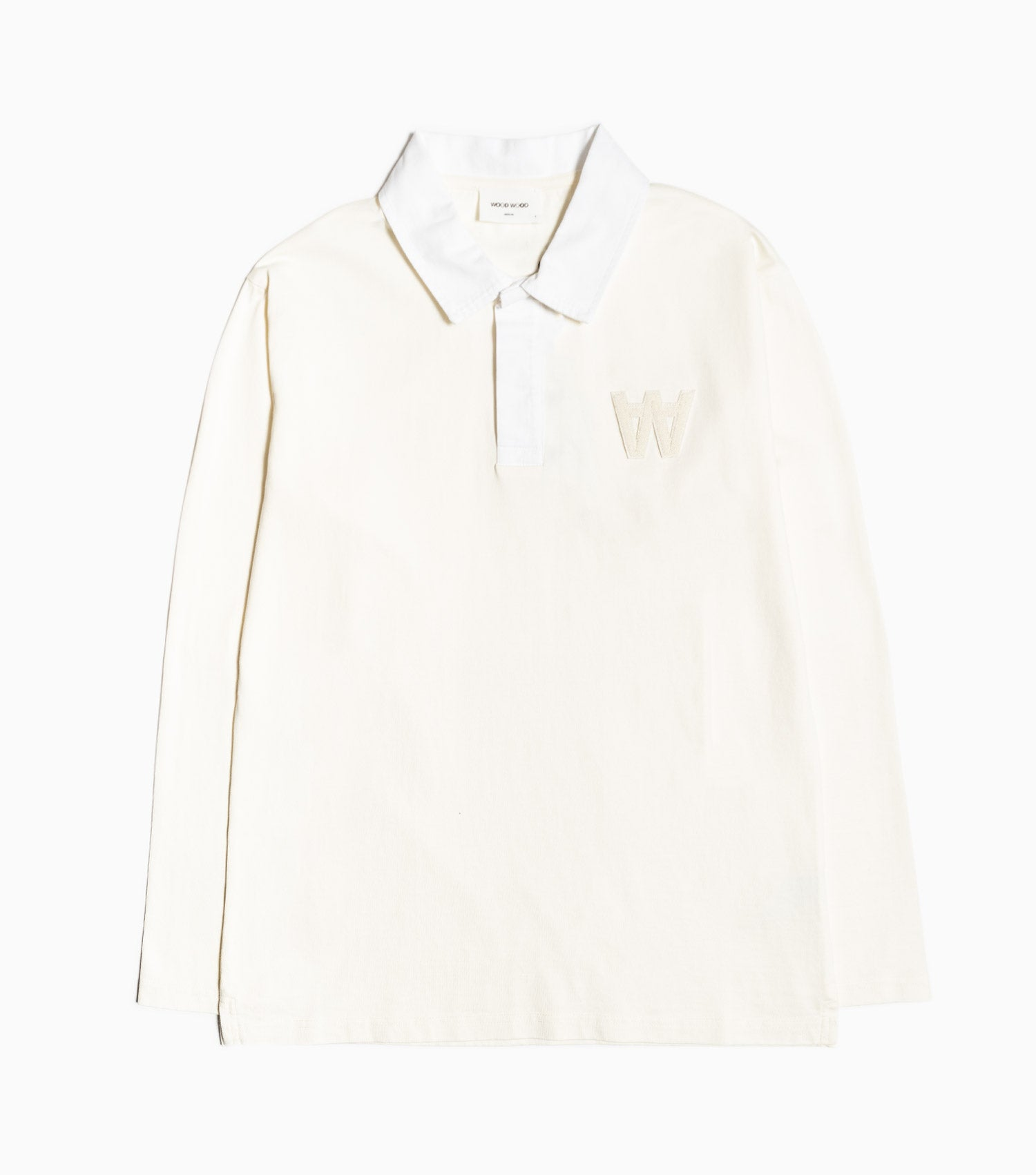 Wood Wood Oliver Long Sleeve Rugby Shirt - Off White