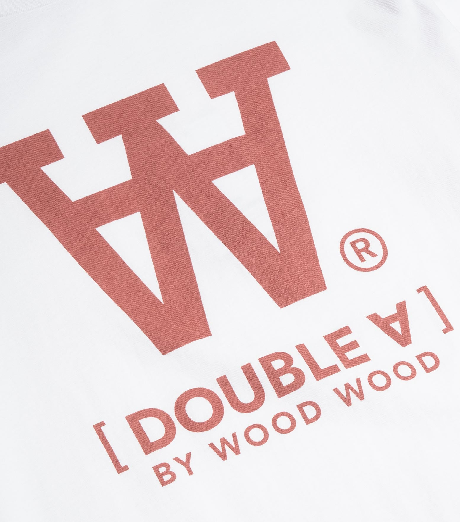 Wood Wood Double A Ace T-Shirt - Bright White