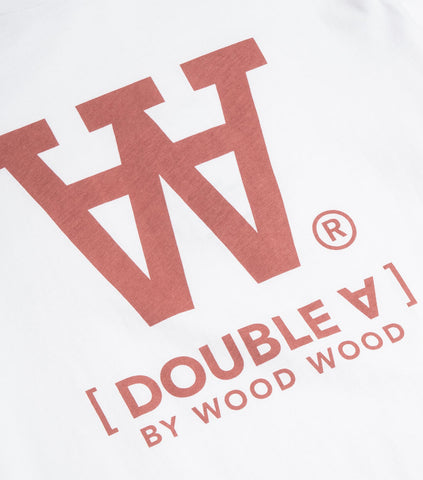 Wood Wood Double A Ace T-Shirt - Bright White T-Shirt - CARTOCON