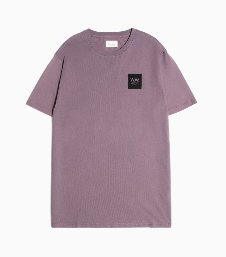 Wood Wood WW Logo Box T-Shirt - Purple