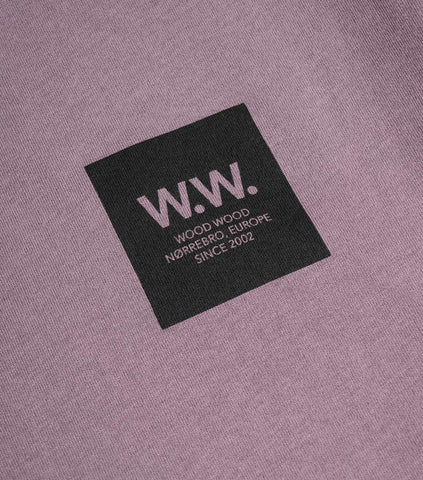 Wood Wood WW Logo Box T-Shirt - Purple T-Shirt - CARTOCON