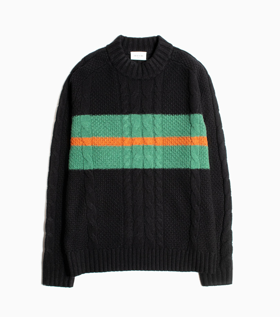 Wood Wood Calvin Knitted Lambswool Sweater - Black